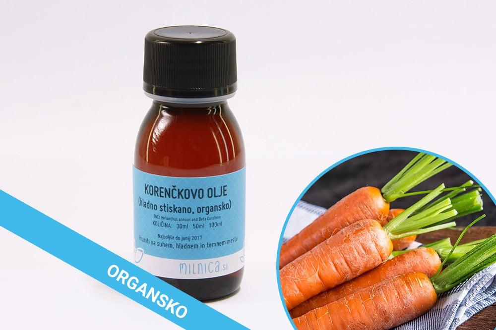 Organsko korenčkovo olje hladno stiskano