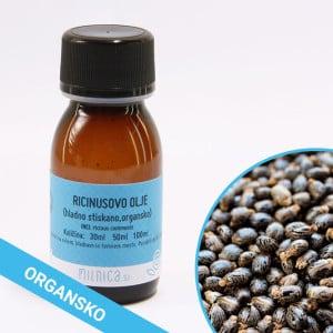 Organsko ricinusovo olje, hladno stiskano