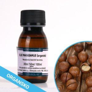Olje makadamije organsko in hladno stiskano