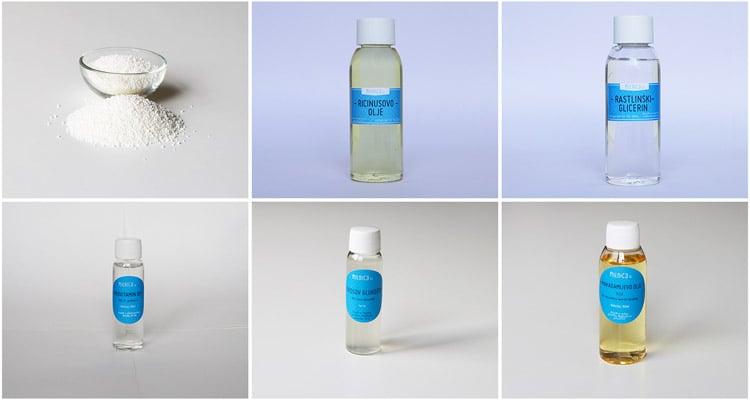 sestavine za izdelavo šampona v ploščici