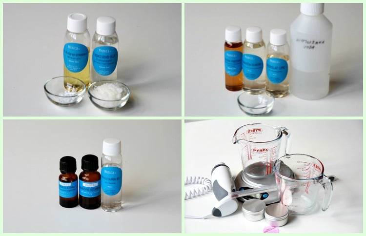 1 korak priprava sestavin kumarična krema za obraz