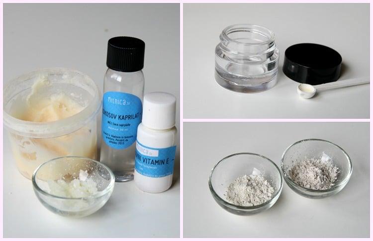 1 korak izdelava domače kozmetike_osvetljevalec _senčilo za veke