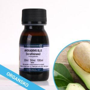 Avokadovo olje, hladno stiskano, organsko in nerafinirano