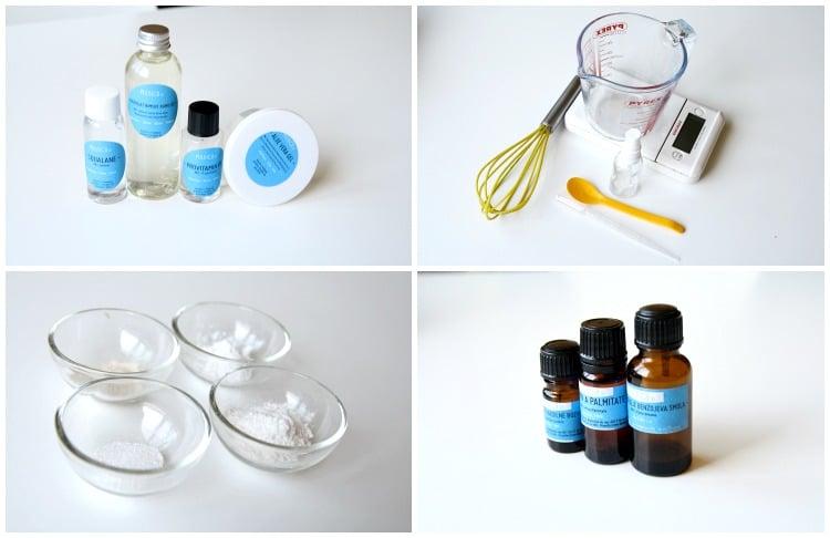 1 korak priprava sestavin serum za obraz s hialuronsko in skvalenom1