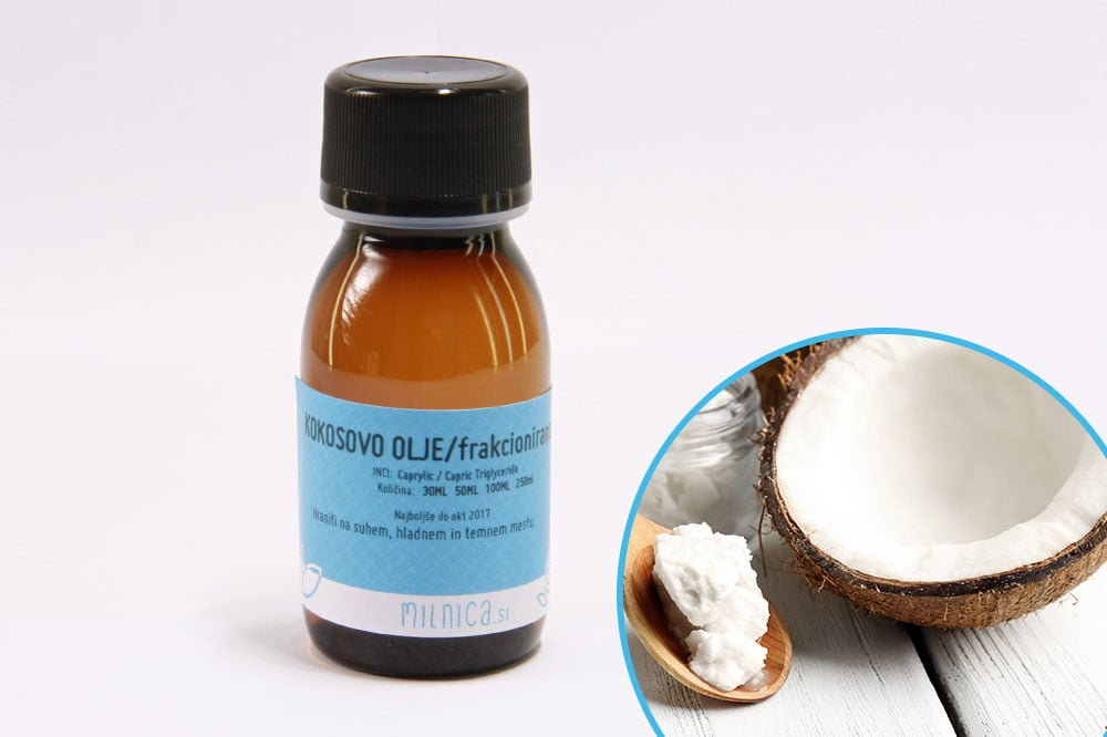 Frakcionirano kokosovo olje, hladno stiskano