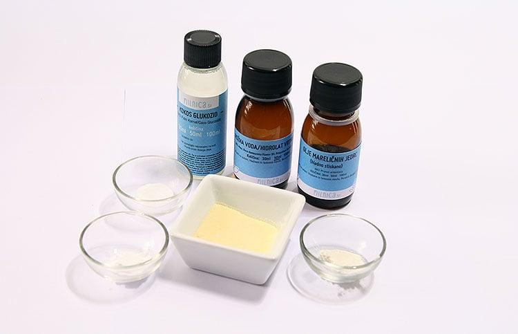 priprava sestavin2_piling gel za obraz