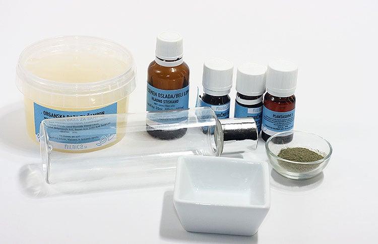 1 priprava sestavin koprivin sampon