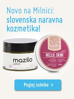 Slovenska naravna kozmetika na Milnici