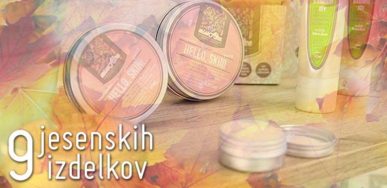 9 izdelkov naravne kozmetike za jesen