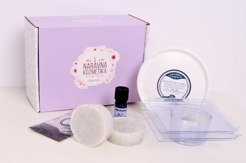 Paket za vanilijevo glicerinsko milo